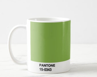 Pantone Mug Green, Pantone Greenery, Pantone Mug, Funny Cute Gifts For Illustrator, Art Student, Office Mug Gift,Pantone Mugs, Pantone Green