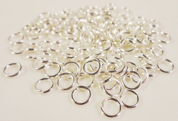 Silver Jump Rings 4mm Silver Plated Iron Metal 25 Gauge Small Open Jumpring Jewelry Making Jewelry Findings Connectors Craft Supplies 100pcs