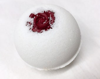 Rose Jam Bath Bomb(Avocado Oil, Sweet Almond Oil, Lush Type)