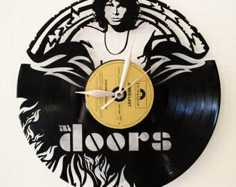The Doors, Jim Morrison, vinyl clock