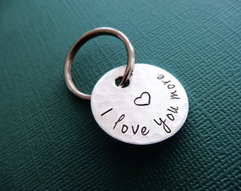 I Love You More Keychain - Personalized for Her - Gift for Him - Anniversary, Wedding, Birthday Gift Idea
