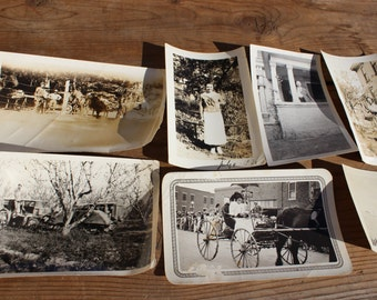 Vintage Collection of Seven 1890's-1950's Photos