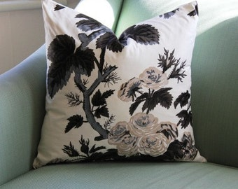 Schumacher Pyne Hollyhock Cushion Pillow Cover