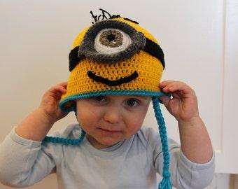 Single Eye Minion Beanie for Smaller Heads
