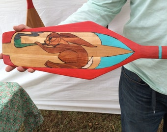 Confident Rabbit Paddle and Legend Plaque