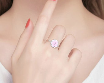 Magnolia Bloom Silver ring