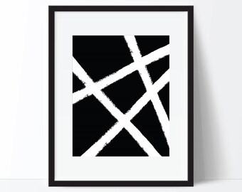 Abstract Print, Black and White Art, Abstract Art, Modern Print, Modern Digital Print, Abstract Printable, Abstract Poster, Modern Poster