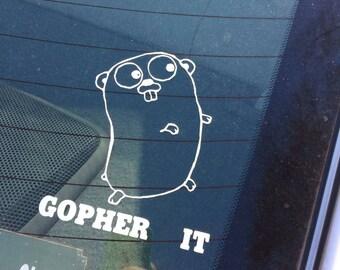 Gopher it sticker decal