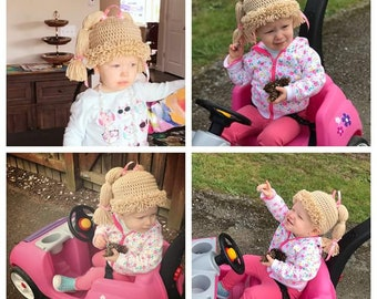 Crochet Cabbage Patch Hat