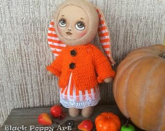 OOAK rabbit dolls/Needle felted bunny figurine/Housewarming gift/Easter gift/Bunny Collectible doll/Bunny gift/Nursery Decor/Birthday's Gift