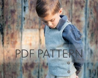 Hastings Vest PDF, vest pattern, sewing for boys, fall patterns, boy pdf, easy pattern, easter vest pdf, boy pattern, outerwear pdf,
