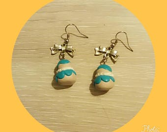 greed polymer clay earring