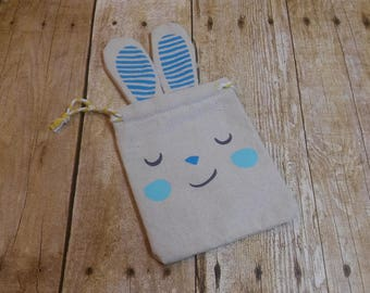 Clearance* Adorable Easter Bunny Drawstring Gift Bag