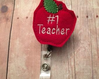 Bobine de badge professeur numéro 1--le cadeau parfait pour votre professeur préféré--montrer votre appréciation