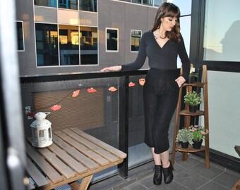 VINTAGE 3/4 length black pants