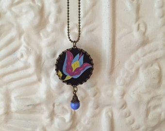 """Tin Jewelry Necklace """"Mad for Mod"""" #2 Tin for the Ten Year Tenth Wedding Anniversary"""