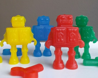 Robot Party Favors - Robot Soap, Robot Birthday Party, Sci Fi Party, Outer Space Party, Robot Class Favors, Robot School Favors - Set of 15