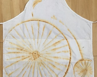 Eco Printed Large Cotton Apron