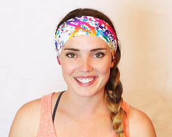 Paint Slatter, Workout Headband, Fitness Headband, Yoga Headband, No slip Headband, Running Headband, Wide Headband, Crossfit
