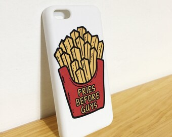 Fries Before Guys - Full printed case for iPhone - by HeartOnMyFingers - CMB-417