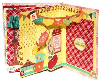 Crate paper  home sweet home theme  Popup book online Class and tutorial
