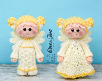 Combo Pack - Annie the Angel Lovey and Amigurumi Set for 7.99 Dollars - PDF Crochet Pattern Instant Download