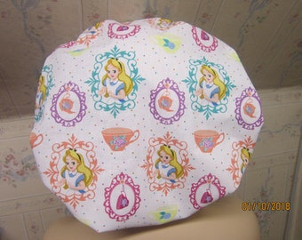 ALICE in WONDERLAND- Bouffant  scrub hat /medical /surgical/ adjustable, has a comfort band