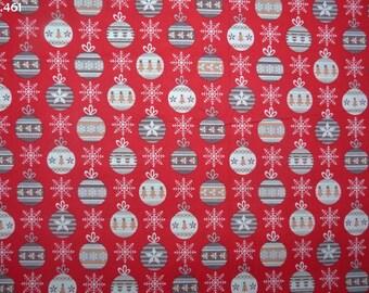 Fabric Christmas tree on red coupon 34x50cm C461 balls