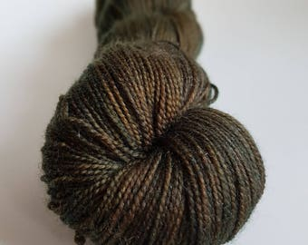 Skein of Superwash Merino - Nylon - Stellina / Fingering - hand dyed Sock / I color is called Root