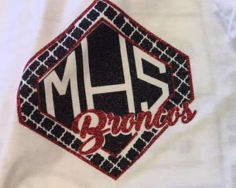 Middleburg Broncos Moroccan Glitter Tee, hoodie, or tank **CUSTOMIZED**