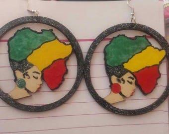 Afro Queen earrings