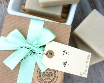 Bath Gift Set - 2 Bars of Handcrafted Organic Soap