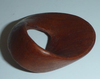 cherry mobius strip abstract hand carved