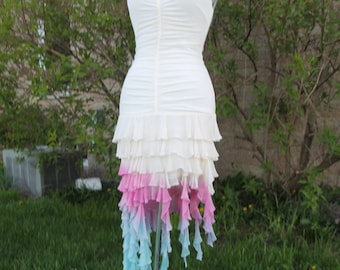 Hand Dyed Mermaid Fairy Dress one-of-a-kind Ombre
