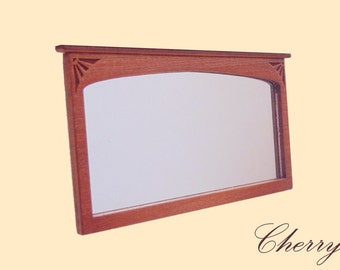 1:24  Scale Dollhouse miniature cherry wall  mirror