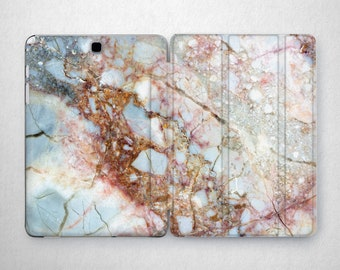 Blue Marble Print Samsung s2 8 Cover Stone Pink Galaxy s3 Cases Tablet Case Stand 10.1 Tablet Case Tab A Case Galaxy s2 9.7 Case 10 Inch 2 3