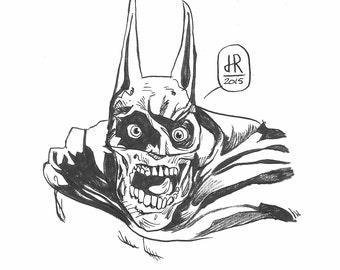 Zombie Batman based off of the Eric Sosa statue of Neil Adams original work