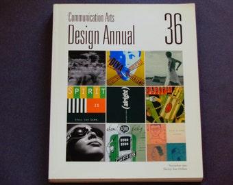 Communication Arts Magazine Design Annual 36 - November 1995 - Graphic Design - Visual Communications - Vintage CA Magazine Back Issue