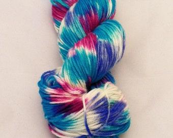 Razzle Dazzle- Merino Sport Weight Yarn- Hand Dyed- OOAK- 0036