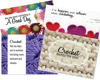 Crochet Note Cards - 8 cards and Envelopes