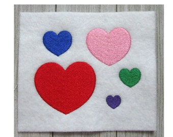 Heart, Heart Embroidery Design, Machine Embroidery, Love, Valentine's Day, 5 Sizes