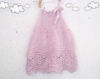 125 PDF Knit Pattern for Baby Dress Knitting pattern Baby girl knit patterns Zucchini Island  Instant download baby patterns