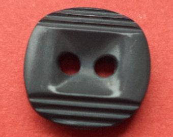 12 small buttons dark grey 11mm (4028) button