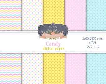SALE Candy digital paper pack