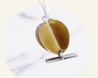 Electric Disc Necklace