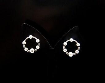 1pair(te-0254) -sterling silver stud post earrings