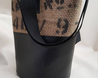 Burlap Coffee Bag Bucket Back Pack