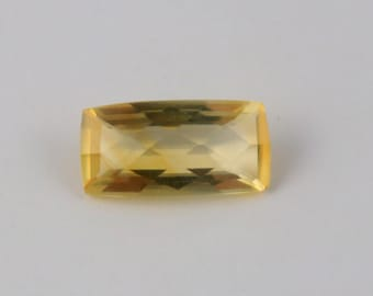 Citrine Faceted Gemstone, 1 Pcs, 9 Cts, Approx 19x10 mm, Octagon Shape Checkar Cut Gemstone, Jewelry making Natural Citrine Loose Gemstone