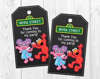 Abby Cadabby and Elmo Thank You Tags, Abby Cadabby Elmo Favor Tags, Abby and Elmo Party Decoration, Printable - PDF