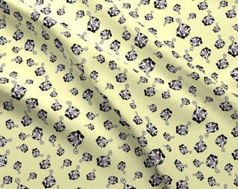 Yellow Cow Fabric - And The Cow Says Mu Yellow By Studiofibonacci - Cute Kids Cow Cotton Fabric By The Yard With Spoonflower